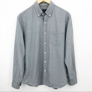 💛 J Crew Secret Wash Button Down Woven Diamonds